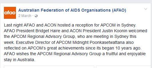 ACON hosts APCOM in Sydney