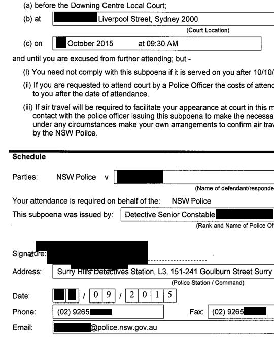 NSWPoliceChargeSheet_BlackOut