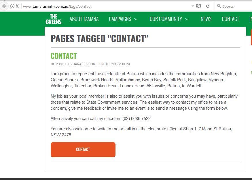 Tamara Smith Website Contact Posted by Jarah Crook