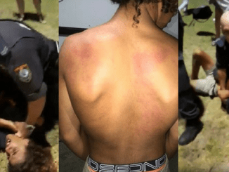 VIDEO EMERGES! Police caught on tape brutally manhandling Indigenous boy during wild carnie violence on Aussie Day