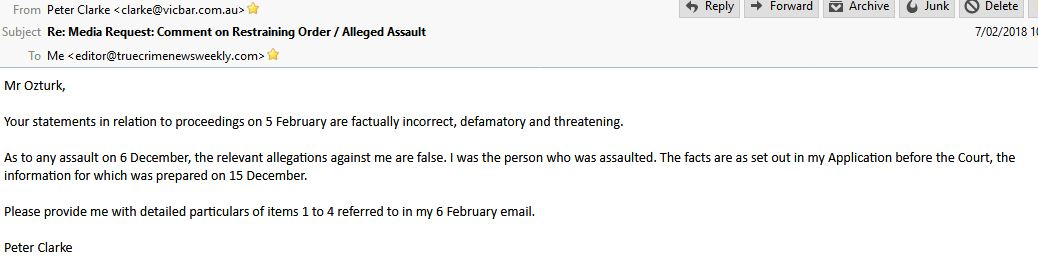 Peter Clarke Email