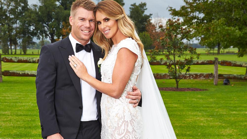 David And Candice Warner on Wedding Day_WomansDay.jpg