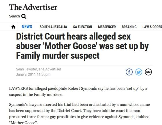 The Advertiser story on Mother Goose June 2011
