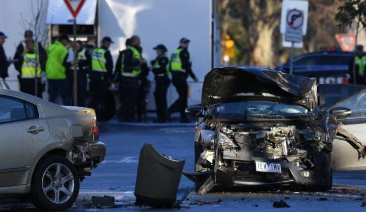 Car Crash near supposed riot.JPG