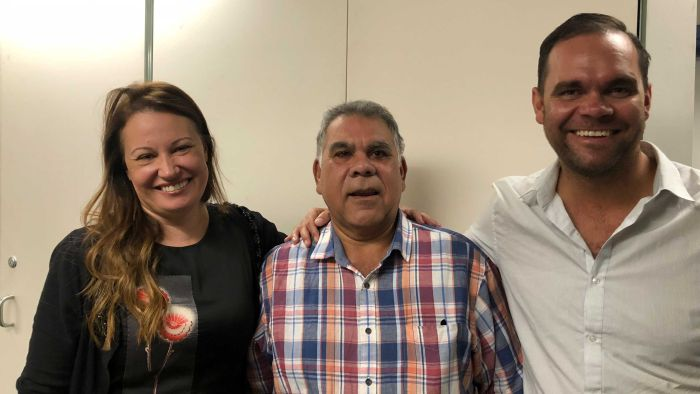 Graeme Mundine with Larrissa Behrendt and Allan Clarke