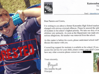 COVER-UP ENDS AS TRUE CRIME STEPS IN! After our exposé Katoomba High School finally makes announcement about arrest of teacher Gavin Malcolm Duncan for alleged sexual abuse of schoolgirl but scandal only grows