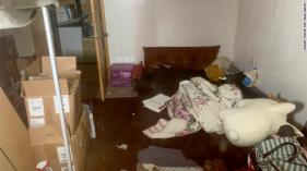 EXCLUSIVE: Inside squalid basement 'cell' where Jayme Closs was held captive. The secret den complete with a scruffy mattress and cuddly stuffed pig is beneath alleged abductor Jake Thomas Patterson???s tumbledown forest cabin in rural Gordon, Wisconsin. 14 Jan 2019 Pictured: The secret den complete with a scruffy mattress and cuddly stuffed pig is beneath alleged abductor Jake Thomas Patterson???s tumbledown forest cabin in rural Gordon, Wisconsin. . Photo credit: Radar Online/MEGA TheMegaAgency.com +1 888 505 6342 (Mega Agency TagID: MEGA337639_051.jpg) [Photo via Mega Agency]