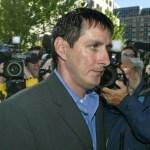 Thomas Druce walking to court in 2004