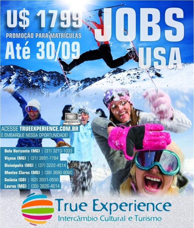Jobs USA Work & Travel  por U$ 1799 em até 3x