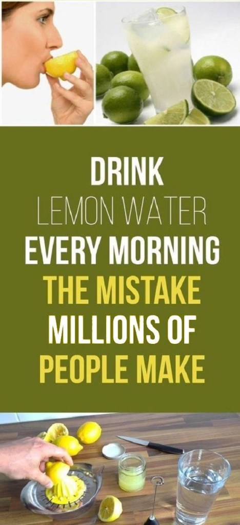 Drink Lemon Water Every Day, But Don't Make The Same Mistake As Millions!
