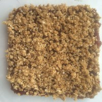 Peanut Butter and (Strawberry) Jam Oat Bars