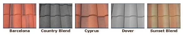 Coated Steel Spanish Tile Colors