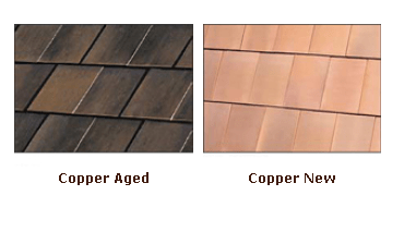 Copper Metal Roof - Aged and New