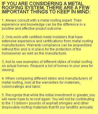 Investment Grade Metal Roofing