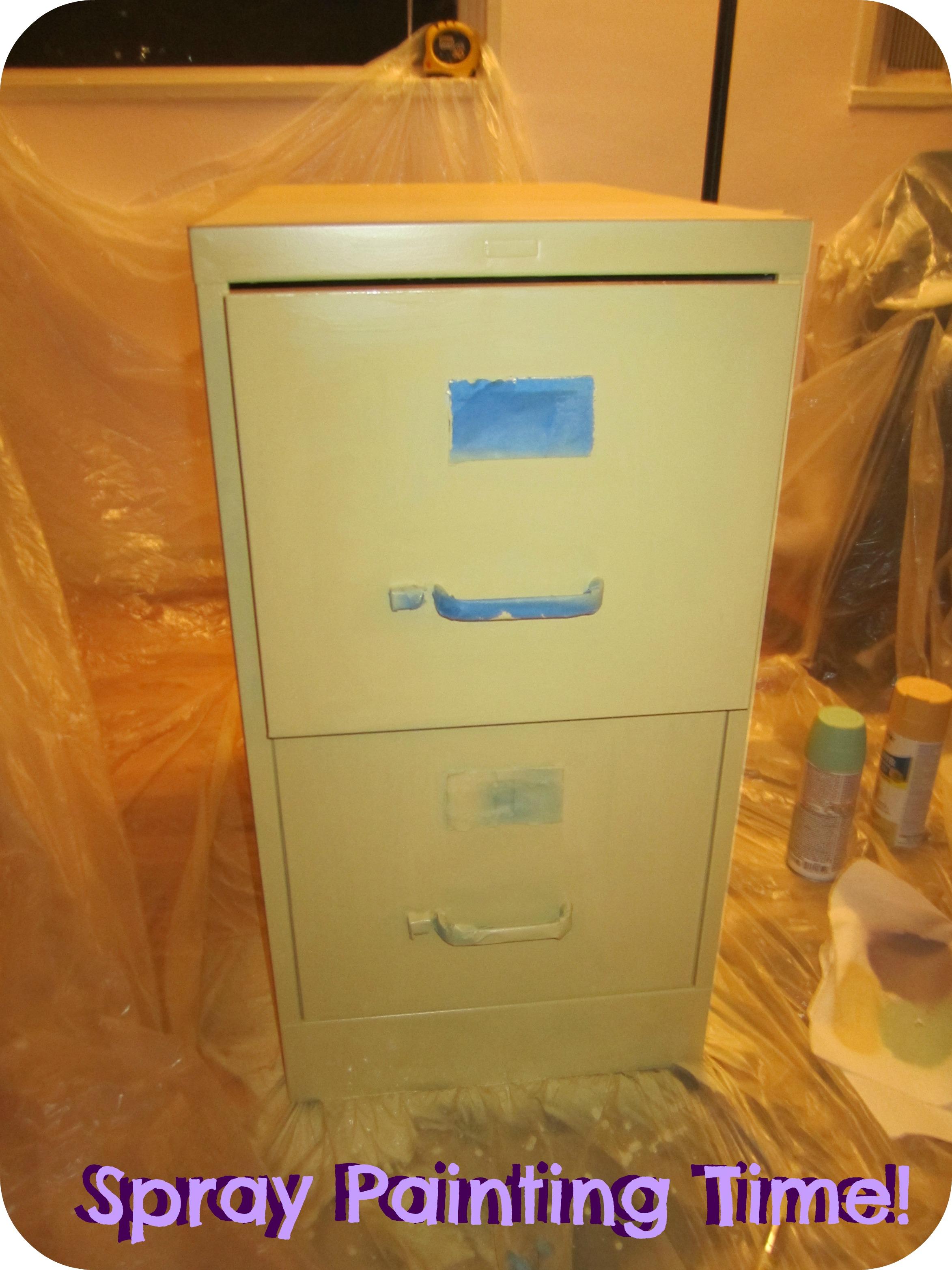 Spray Paint File Cabinet  Gypsy Soul