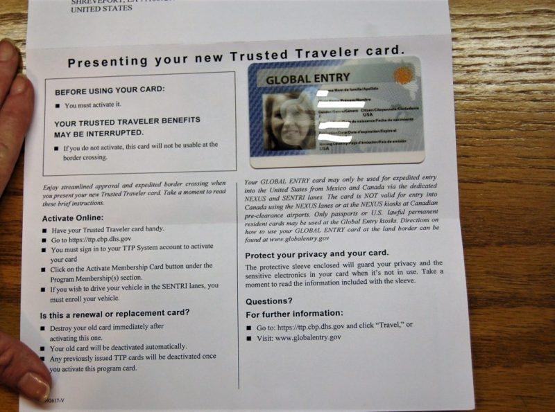 Traveler Number On Global Entry Card