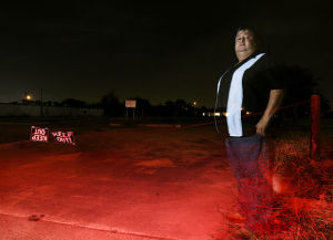 Image by Gabe Hernandez - The Monitor Danny Nava poses for a photo at the old Boccaccio 2000 club location Thursday evening in McAllen.