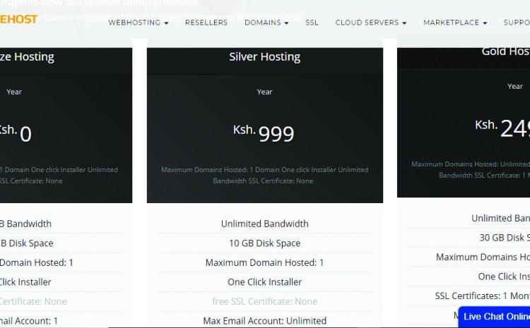 free web hosting in kenya package