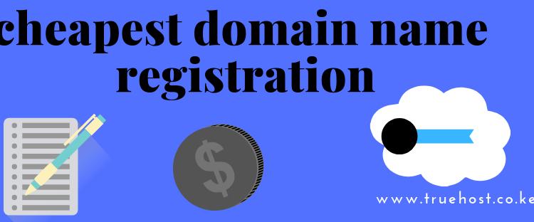cheapest domain name registration in kenya
