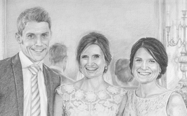 wedding portrait drawing