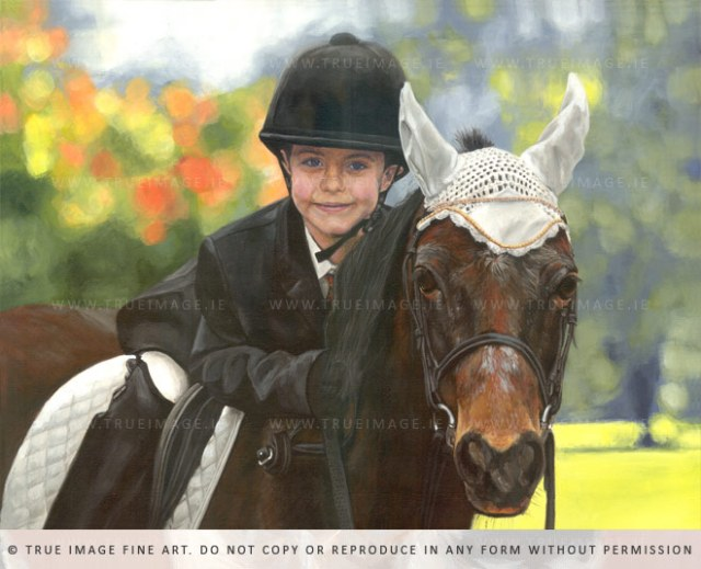 boy on a horse painting