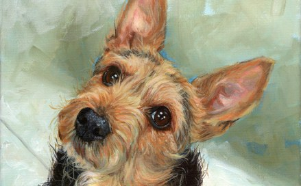 detail of a dog painting