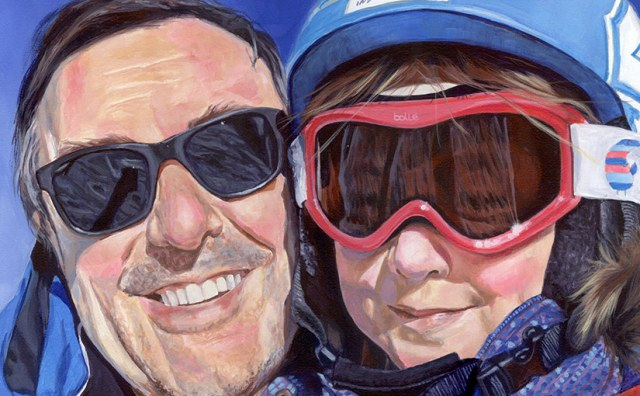 dad and daughter painting