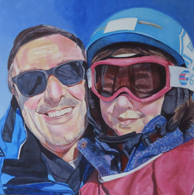 family painting progress 4