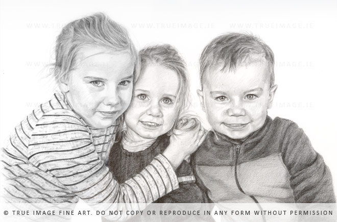 three siblings portrait