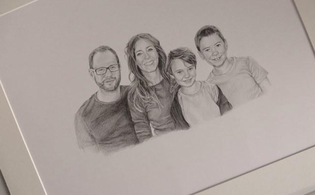 parents and children portrait