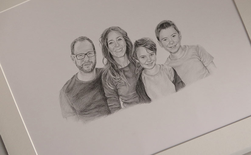 parents and children portrait