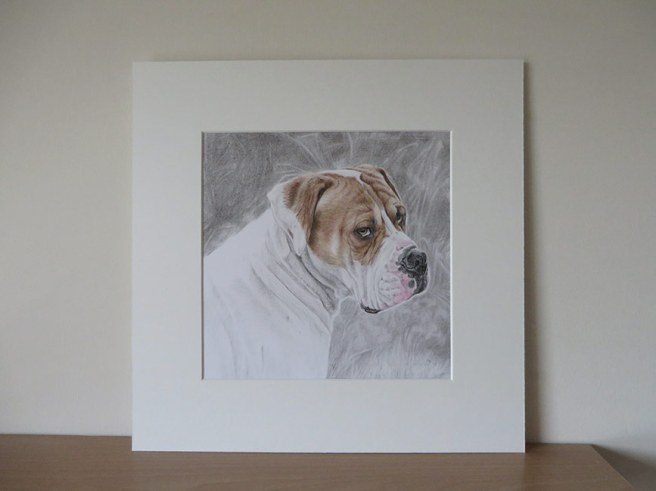 mounted dog drawing