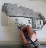 house drawing in progress