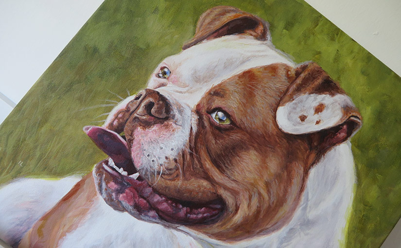 bulldog painting