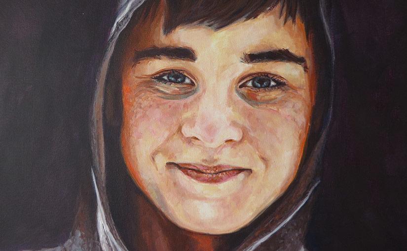 boy painting detail