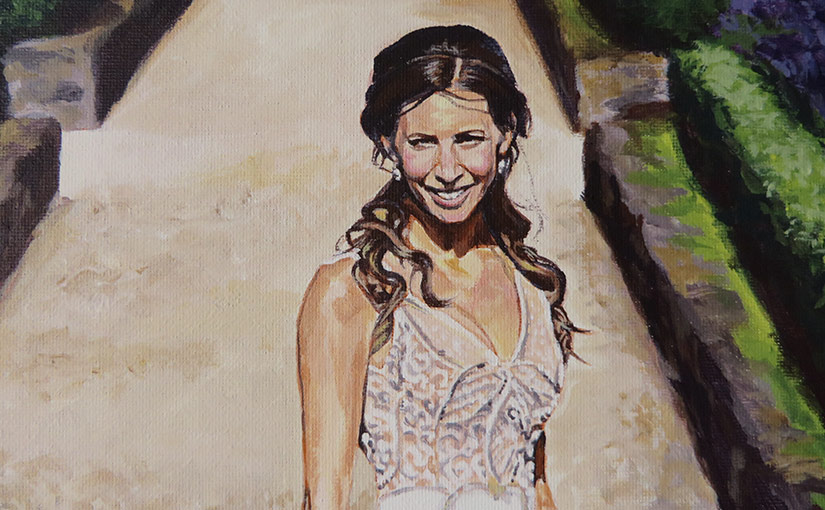 bride portrait detail