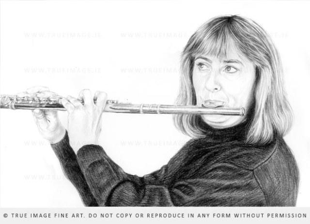 flutist drawing