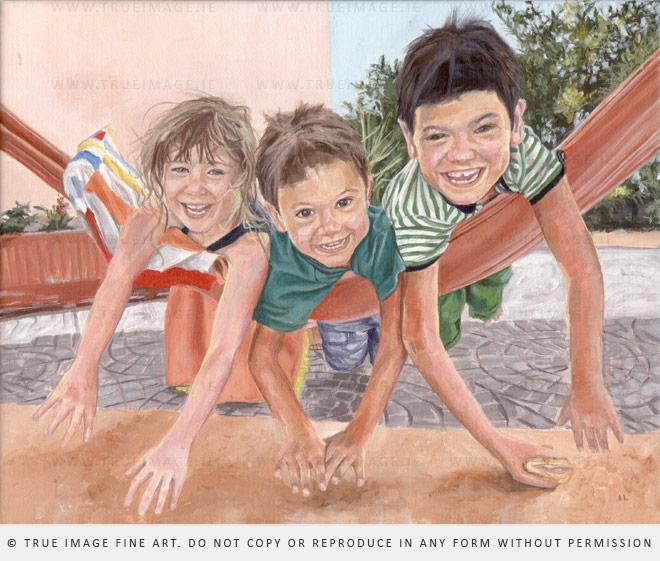 three kids portrait