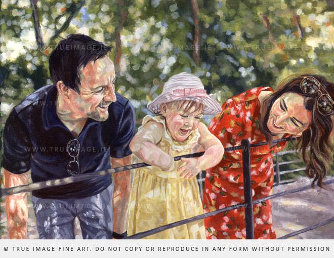 parents child painting