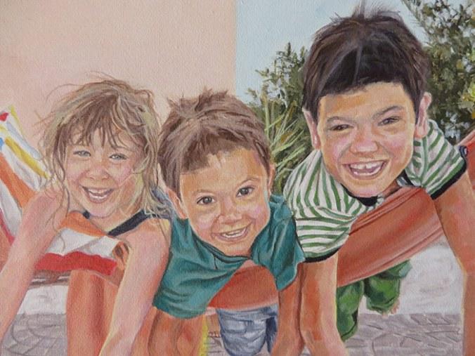 painting of children