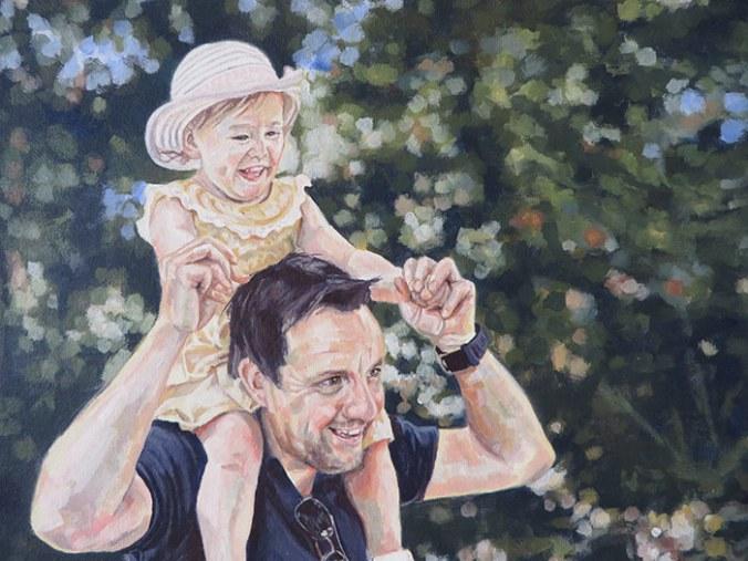 dad daughter portrait