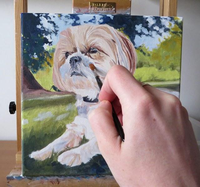 adding colour to a portrait