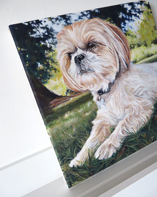 finished pet portrait canvas