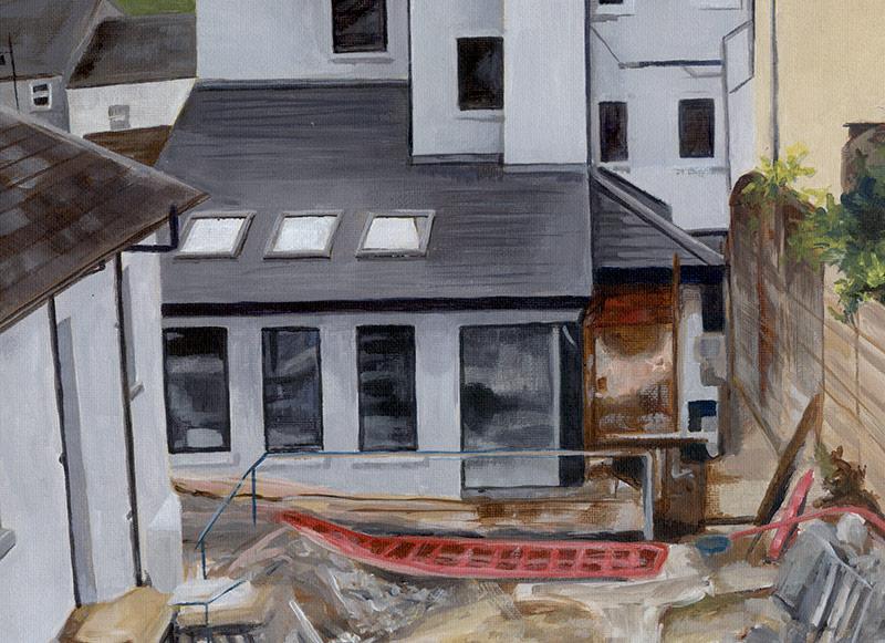 painted landscape detail
