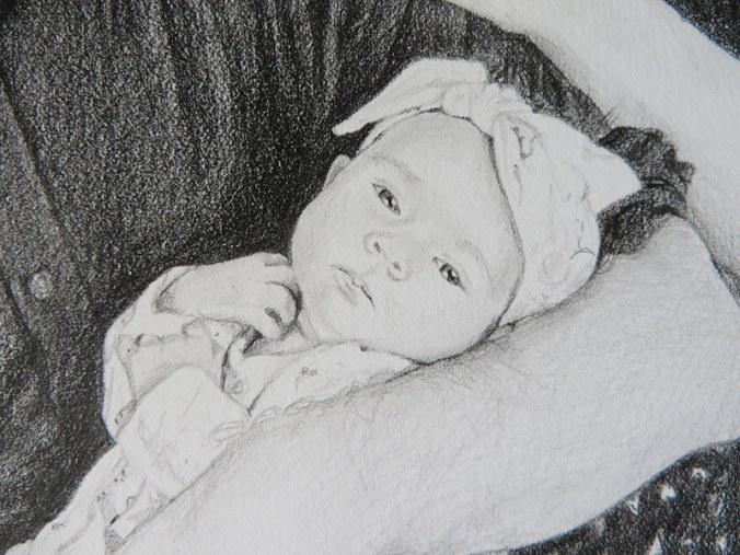 baby portrait detail