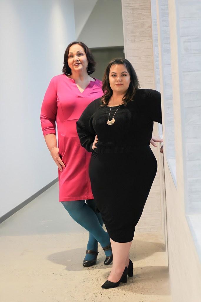 Elle & Veronica Standing in Hall