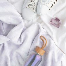 Brand example- lilac and white