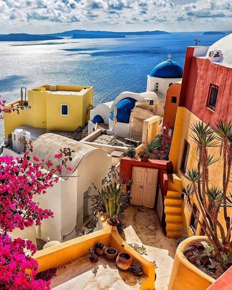 Colorful Santorini Greece <3