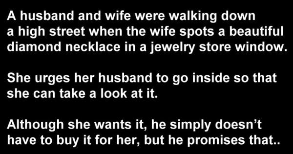 Husband Joke: The Diamond Necklace & The Angry Wife