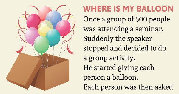 Where is my balloon – Inspirational Story